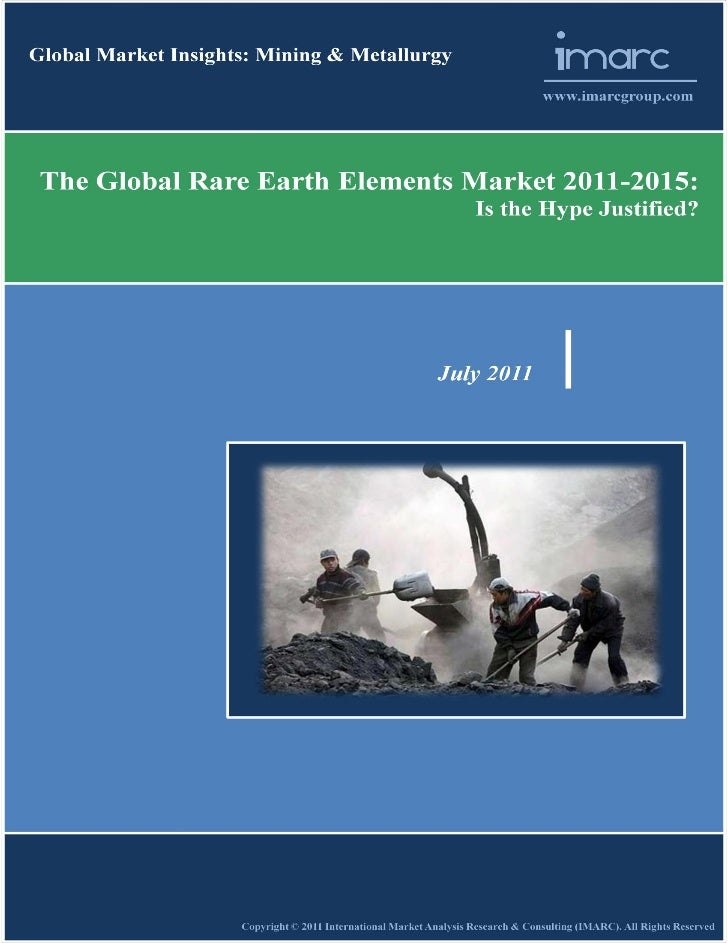 """""""The Global Rare Earth Elements Market 2011-2015"""