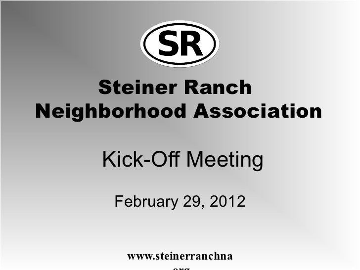Kick-Off Meeting February 29, 2012