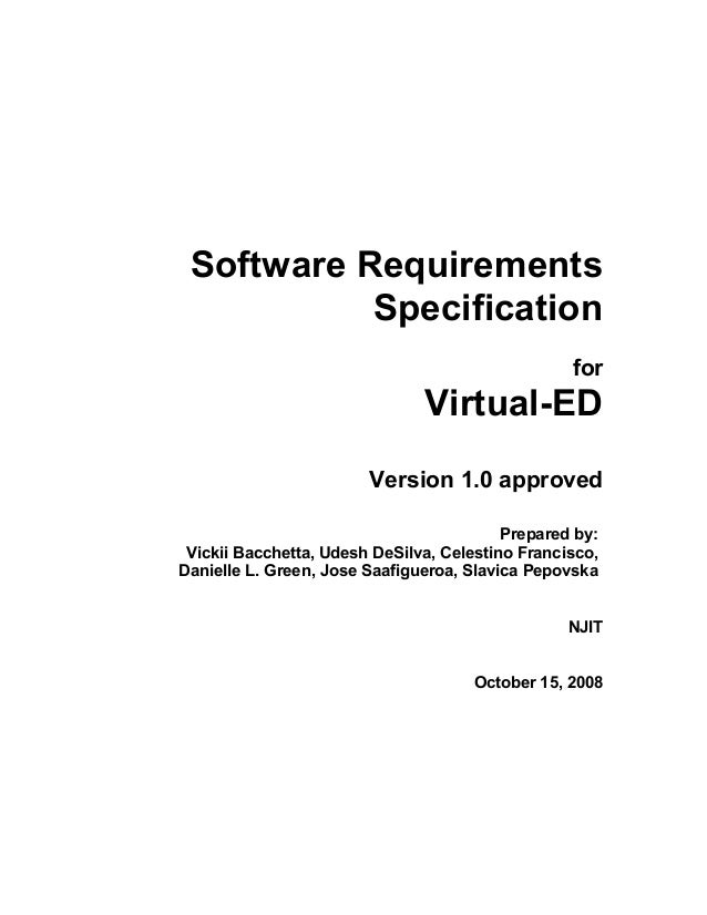 Srs for virtual eucation