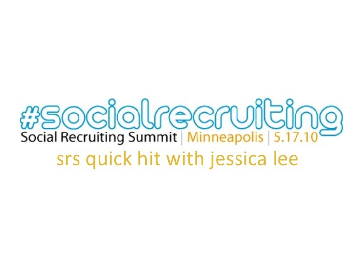 srs quick hit with jessica lee