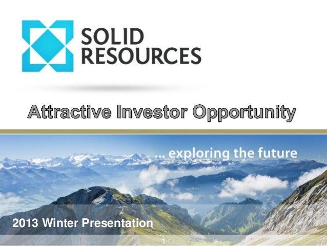 2013 Winter Presentation 1