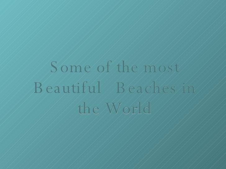 أجمل الأماكن في العالم