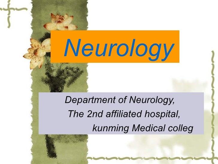 Neurology Department of Neurology,  The 2nd affiliated hospital,  kunming Medical colleg