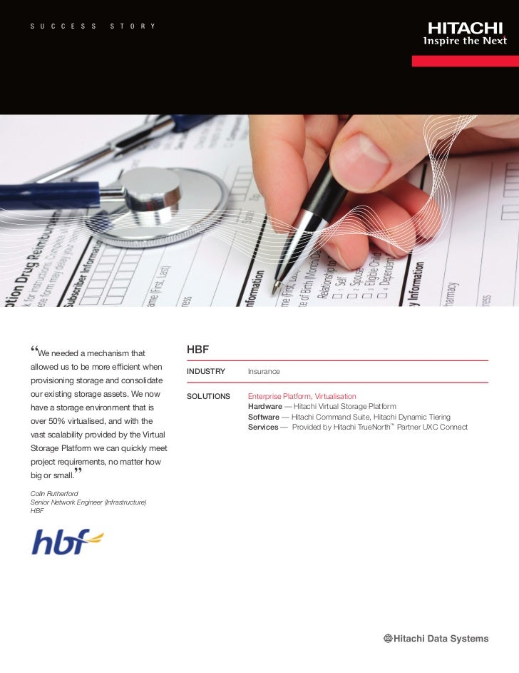 Hitachi Data Systems and HBF Success Story