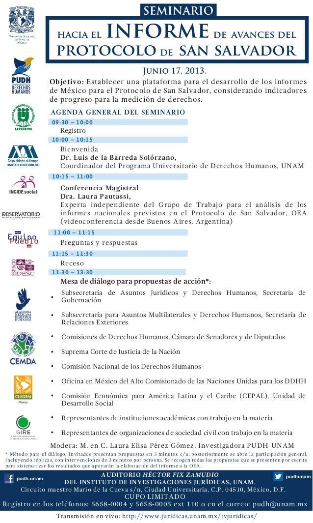 Seminario Hacia el Informe de Avances del Protocolo de San Salvador