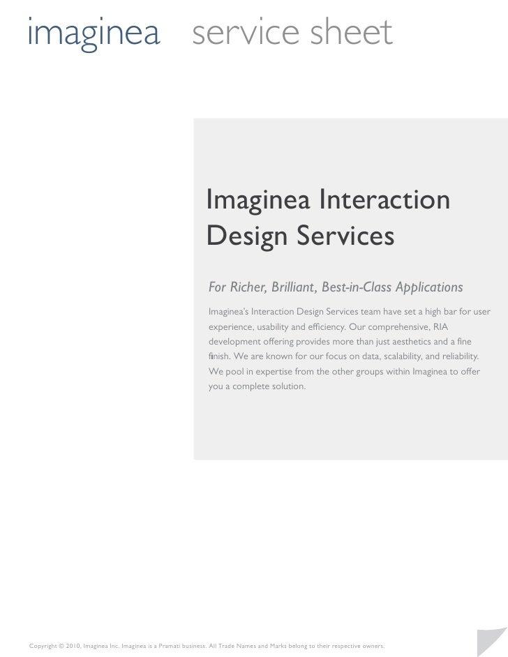 imaginea service sheet                                                             Imaginea Interaction                   ...