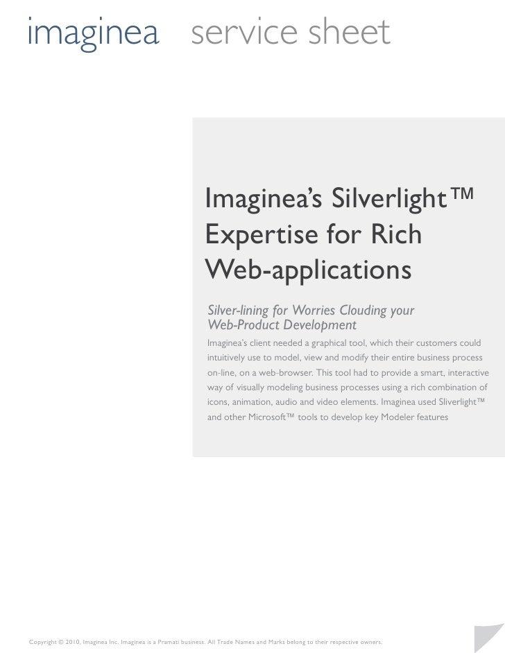 imaginea service sheet                                                             Imaginea's Silverlight™                ...