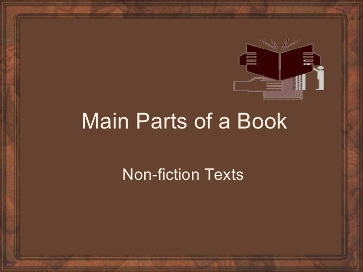 Main Parts of a Book Non-fiction Texts