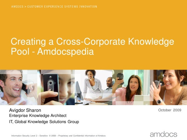 Creating a Cross-Corporate Knowledge Pool - Amdocspedia     Avigdor Sharon                                                ...