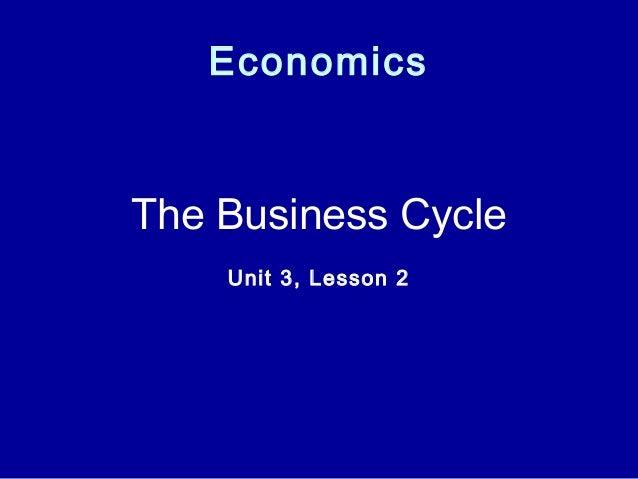 Economics The Business Cycle Unit 3, Lesson 2