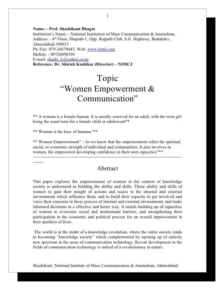 Women Empowerment Essay Examples