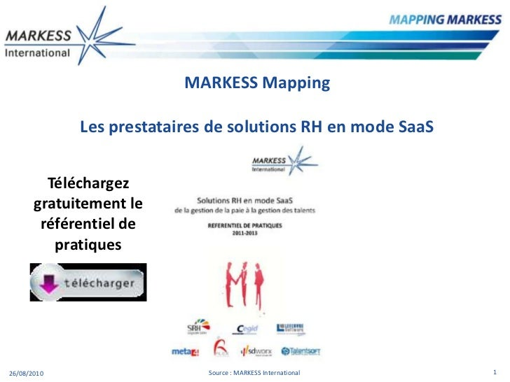 Solutions RH en mode SaaS : Mapping de prestataire par MARKESS International