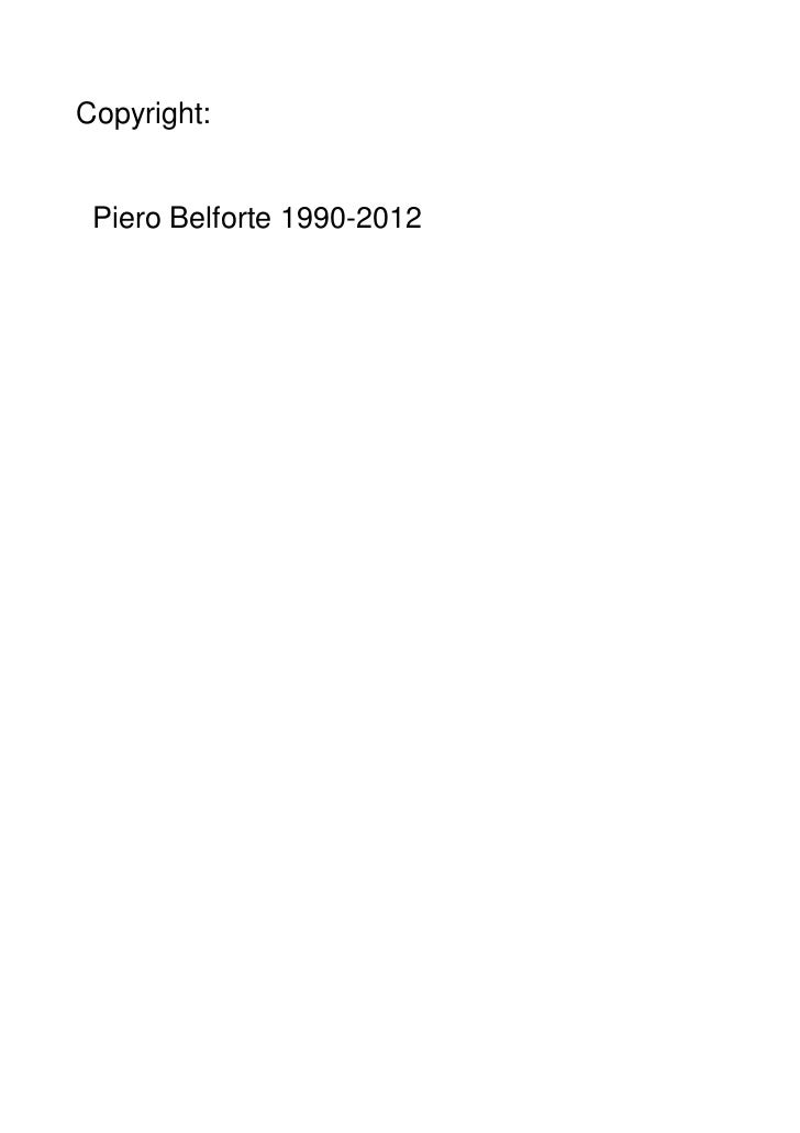 Copyright: Piero Belforte 1990-2012
