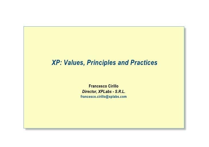 20060703 XP Values and Principles @Essap2006 Varese-IT [ITA]