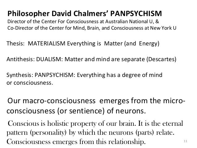 a materialist response to david chalmers the conscious mind Explain consciousness1 that is the core idea of david chalmers' structure and dy- namics argument2 this materialism is false4 in response, some materialists (so-called type-c materialists) argue that while there chalmers presents the structure and dynamics argument in a number of places, but the definitive version.