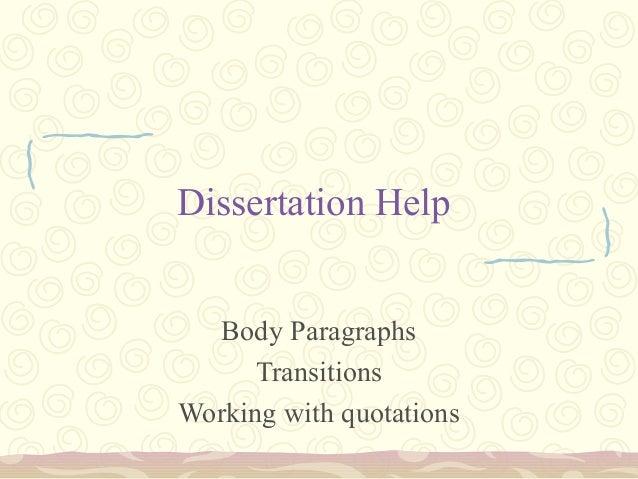 Quality dissertation help