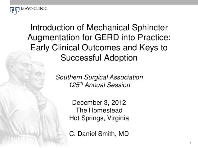 Introduction of Mechanical Sphincter Augmentation for GERD into Practice: Early Clinical Outcomes and Keys to Successful A...