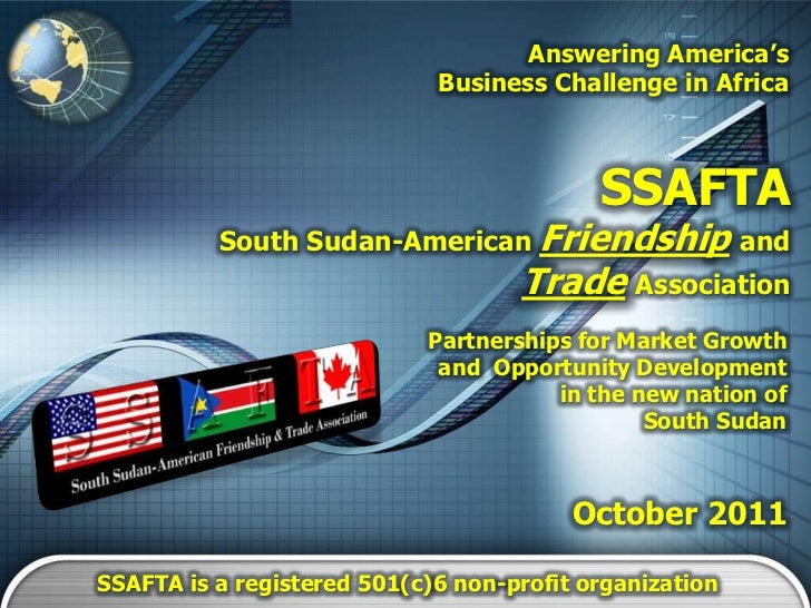 Answering America's                             Business Challenge in Africa                                           SSA...