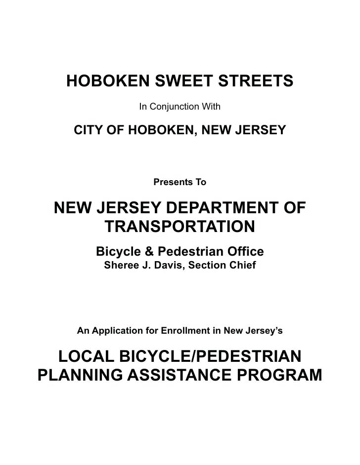 HOBOKEN SWEET STREETS                 In Conjunction With     CITY OF HOBOKEN, NEW JERSEY                      Presents To...