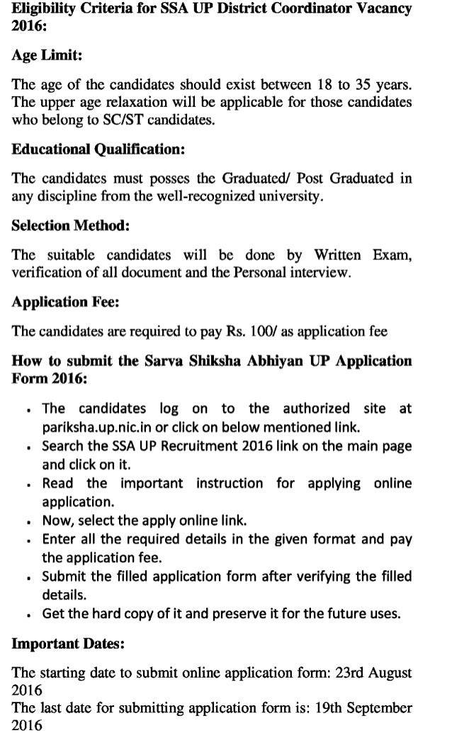 Ssa up govt jobs recruitment latest  asst finance and other posts exam result