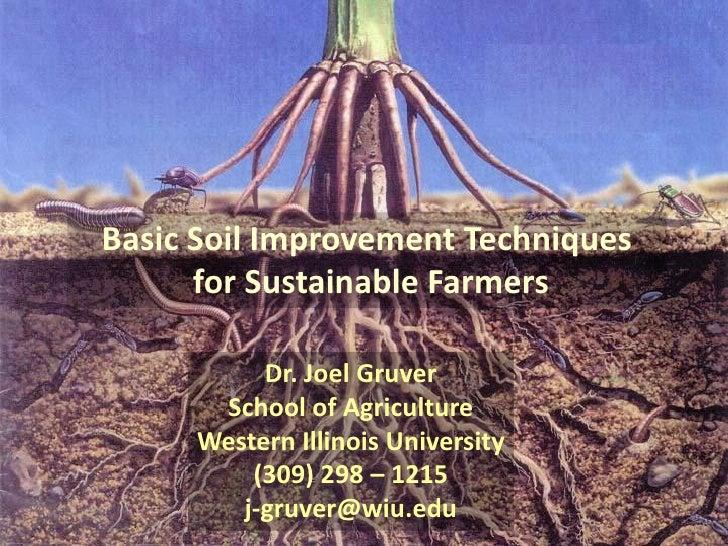Basic soil improvement for Soil improvement