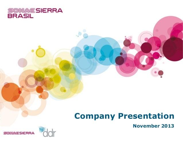 Company Presentation November 2013