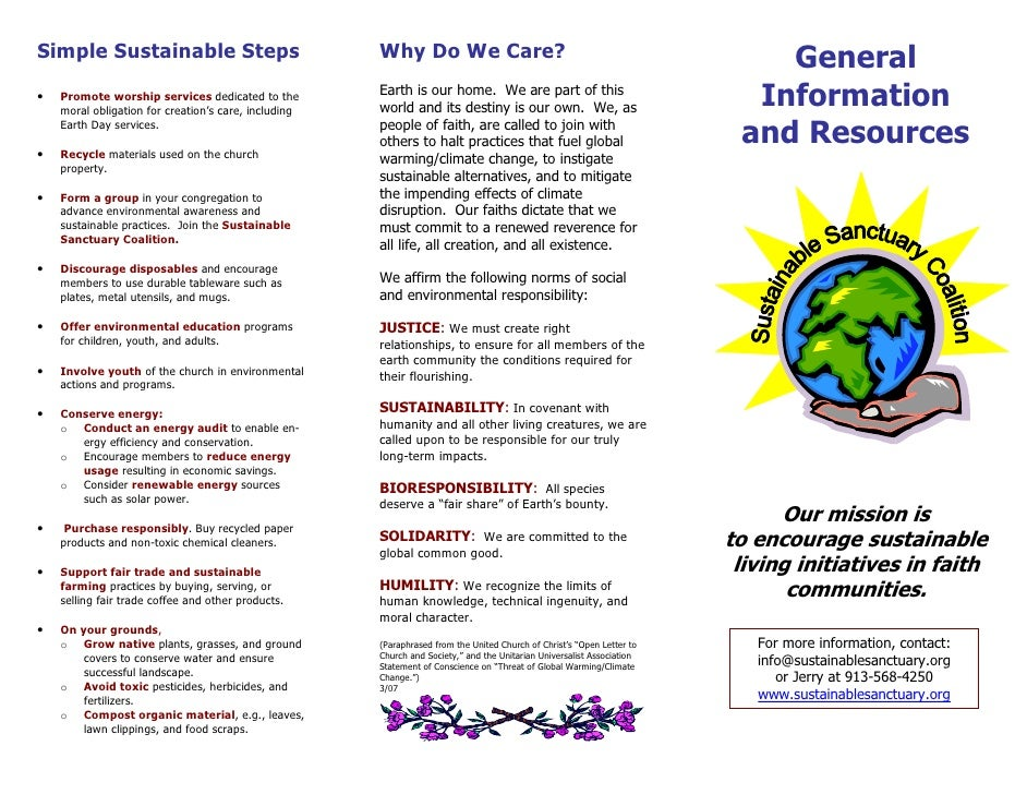 General Information and Resources - Green Churches and Earth Care