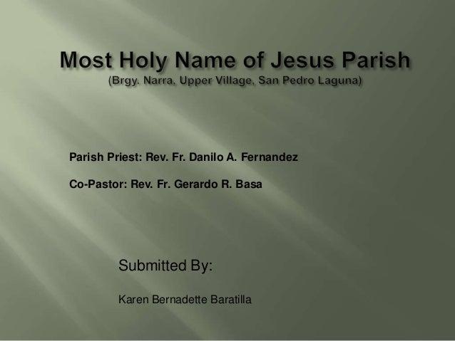 Ssc baratilla   most holy name of jesus parish1