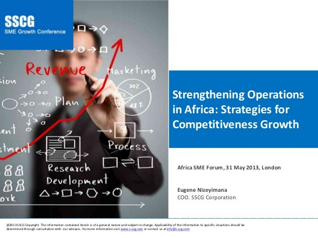 Strengthening Operations in Africa: Strategies for Competitiveness Growth ________________________________________________...