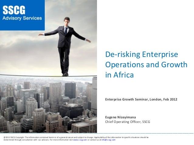 De-risking Enterprise Operation and Growth in Africa - Eugene Nizeyimana