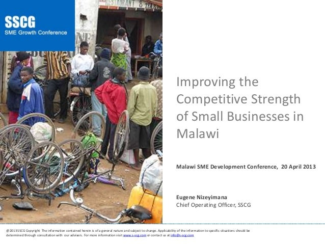 Eugene Nizeyimana - Improving the Competitive Strength of SMEs in Malawi