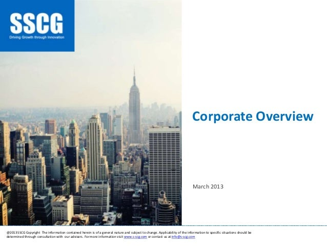 Corporate Overview _______________________________________________________________________________________________________...