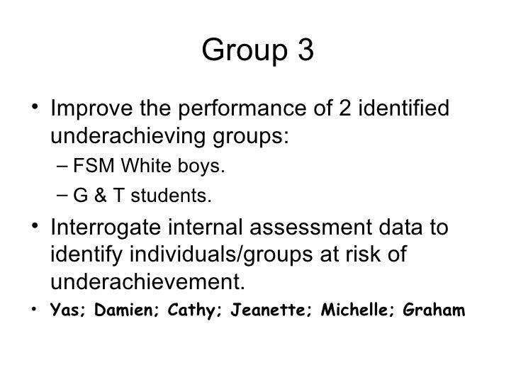 Underachievement Presentation