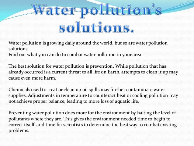 "problem solution essay water Essay about water scarcity and possible solutions - ""water is the lifeblood of this planet every time a good is bought or sold there is a virtual exchange of water every."