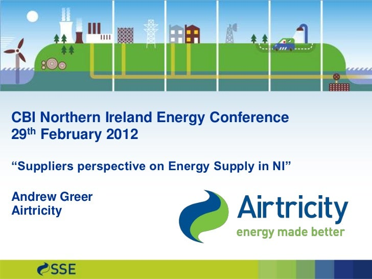 CBI NI energy conference: Andrew Greer