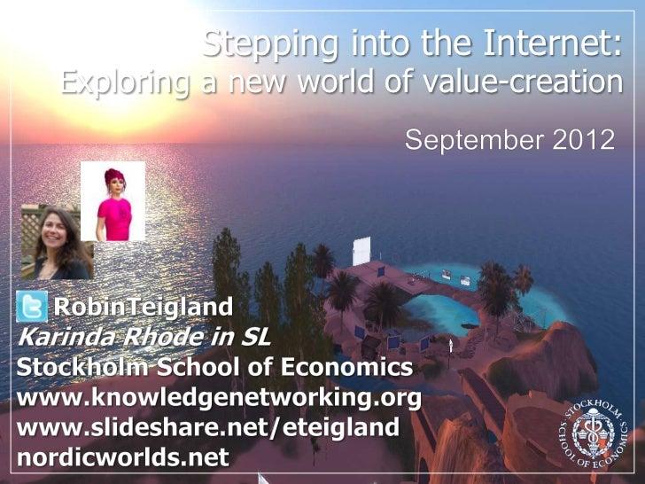 SSE Social Media & Virtual Worlds_Teigland
