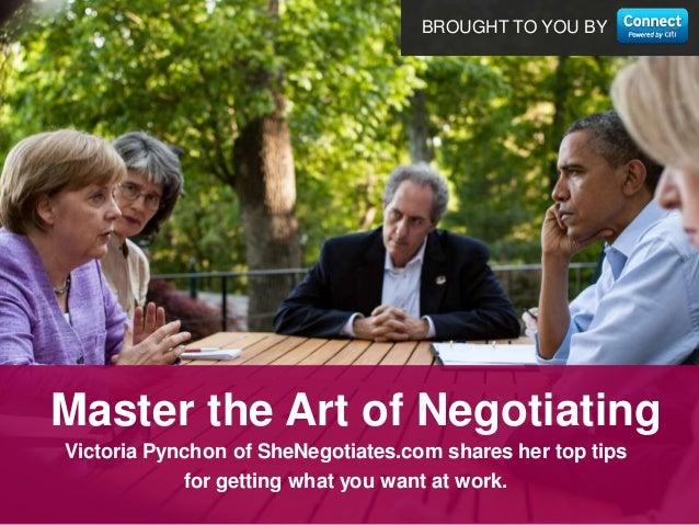 Master the Art of Negotiation