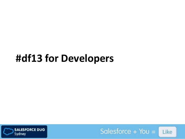 #df13 for Developers