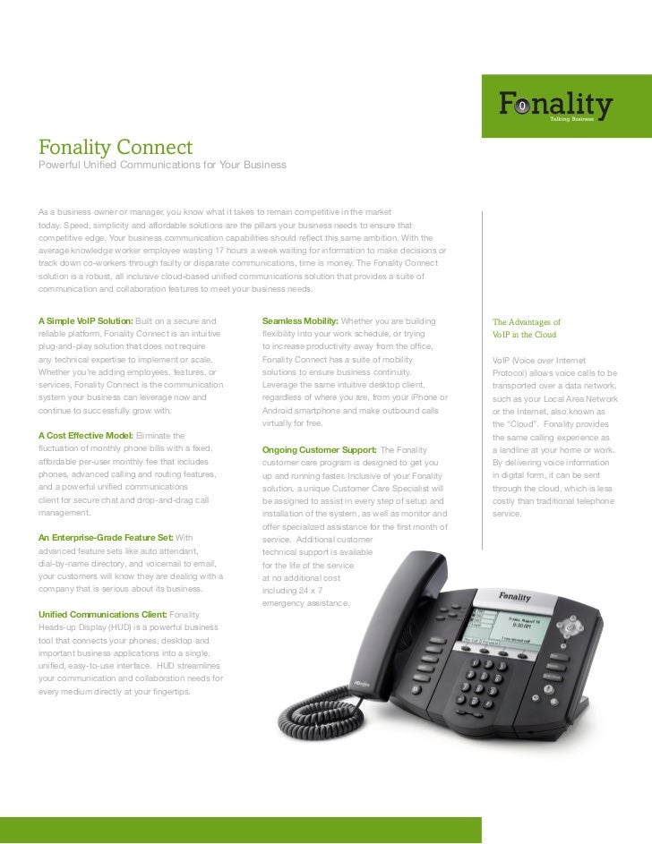 Fonality ConnectPowerful Unified Communications for Your BusinessAs a business owner or manager, you know what it takes to...