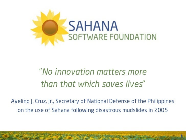 Sahana Software Foundation Overview Brief