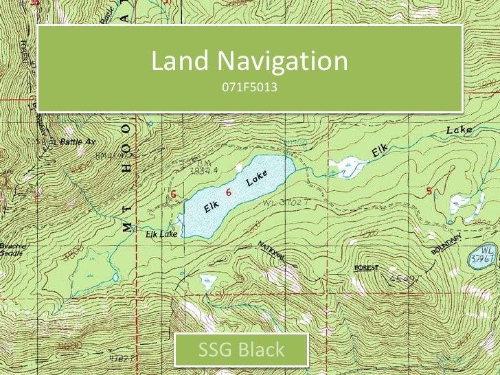 SSG Black Land Nav