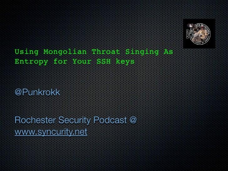 Intro to SSH