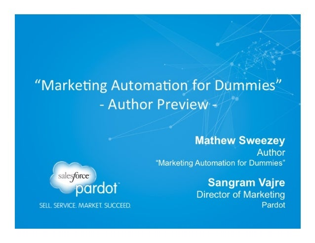 """""""Marketing Automation for Dummies"""" - Author Preview"""
