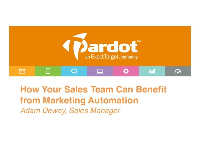 How Your Sales Team Can Benefitfrom Marketing Automation!Adam Dewey, Sales Manager!