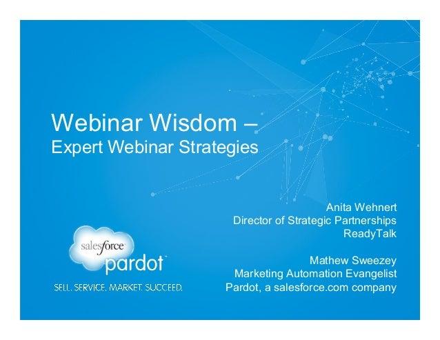 Webinar Wisdom - Webinar Expert Strategies