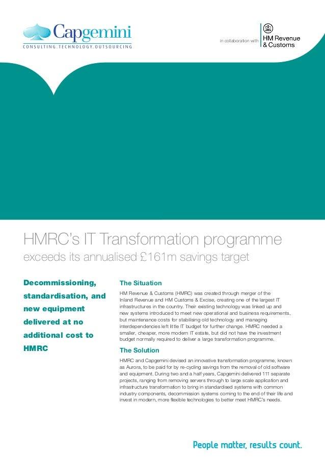 HMRC's IT Transformation Program Exceeds its Annual £161m Savings Target