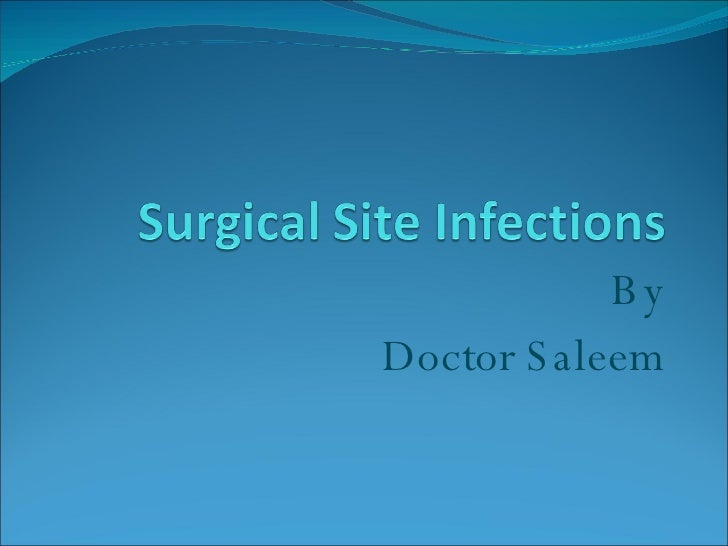 surgical wound infections