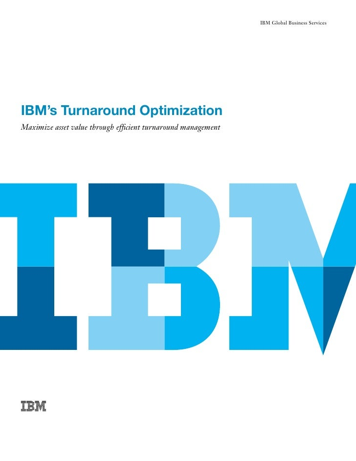 IBM Oil | IBM's Turnaround Optimization Maximizes Asset Value