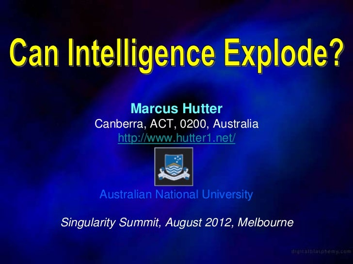 Can Intelligence Explode?