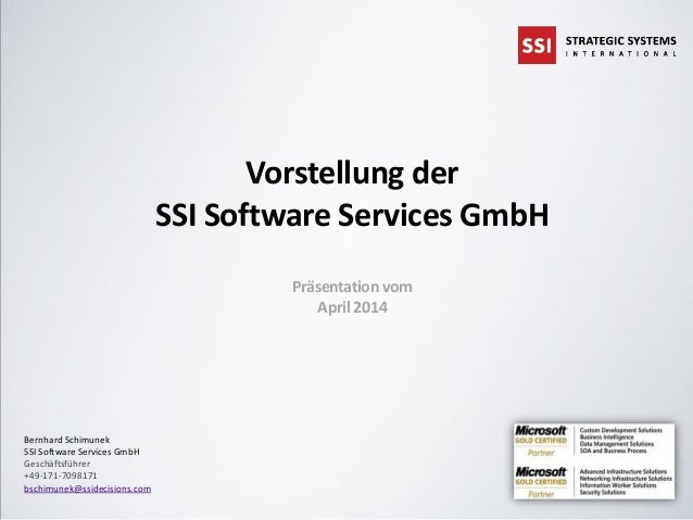 SSI Software Services GmbH - Vorstellung - April 2014